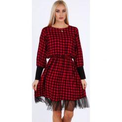 Czerwona sukienka na co dzień 18960. Czerwone sukienki na komunię Fasardi, na co dzień, l. Za 79,00 zł.