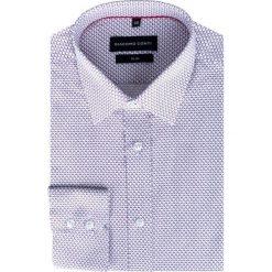 Koszula SIMONE KDWS000289. Niebieskie koszule męskie na spinki marki bonprix, m, z nadrukiem, z klasycznym kołnierzykiem, z długim rękawem. Za 169,00 zł.