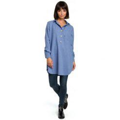 Bewear Bluzka Damska S/M Niebieski. Niebieskie bluzki z odkrytymi ramionami BeWear, m, z materiału. Za 209,00 zł.