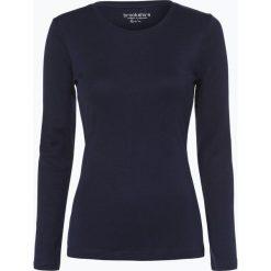 T-shirty damskie: brookshire – Damska koszulka z długim rękawem, niebieski