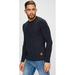 Jack & Jones - Sweter. Czarne swetry klasyczne męskie marki Jack & Jones, l, z bawełny, z klasycznym kołnierzykiem, z długim rękawem. Za 189,90 zł.