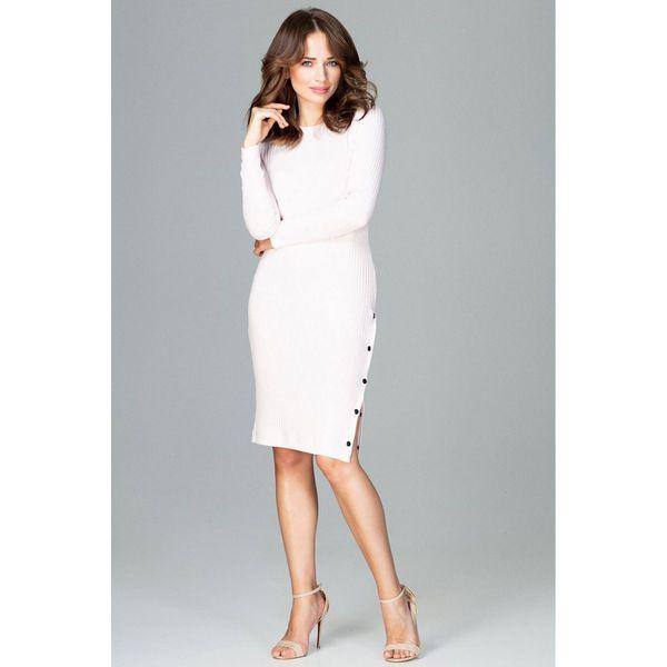 93f7716d0c Sukienka z rozcięciem k464 - Różowe sukienki damskie Global