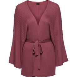 Sweter wiązany kimono bonprix czerwony mahoń. Czerwone swetry klasyczne damskie bonprix. Za 49,99 zł.