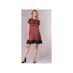 Sukienki krótkie Sisley  ZEBRIOLO. Czerwone sukienki hiszpanki Sisley, z krótkim rękawem, mini. Za 293,30 zł.