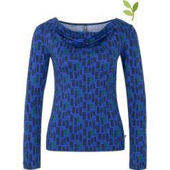 """Bluzki asymetryczne: Koszulka """"Jade"""" w kolorze niebieskim"""