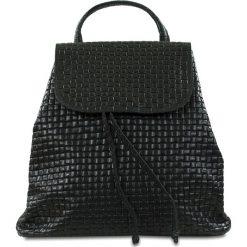 """Plecaki damskie: Skórzany plecak """"Faith"""" w kolorze czarnym – 32 x 33 x 16 cm"""