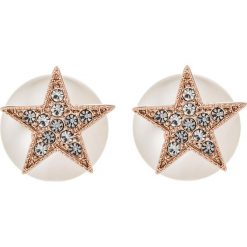 Kolczyki damskie: SNÖ of Sweden STAR PEARL DOUBLE Kolczyki rose/clear