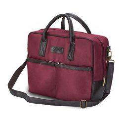 CIDRO Męska torba na ramię na laptopa bordowa. Czerwone torby na ramię męskie Solier, w paski, ze skóry ekologicznej. Za 169,00 zł.