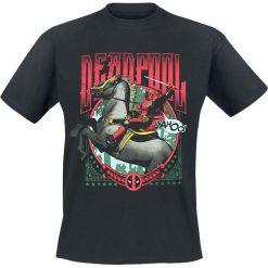 Deadpool Wahoo T-Shirt czarny. Czarne t-shirty męskie z nadrukiem Deadpool, l, z okrągłym kołnierzem. Za 54,90 zł.