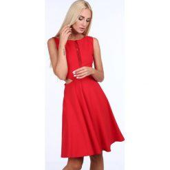 Sukienka rozkloszowana z szyfonem czerwona 1781. Czerwone sukienki marki Fasardi, l. Za 89,00 zł.