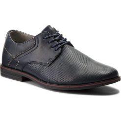 Półbuty OTTIMO - MYL8097-1 Granatowy. Niebieskie buty wizytowe męskie Ottimo, z materiału. Za 99,99 zł.