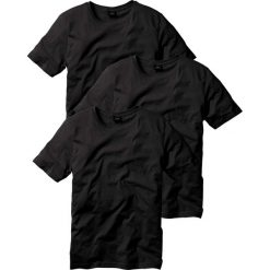 T-shirt (3 szt.) bonprix czarny + czarny + czarny. Niebieskie t-shirty męskie marki Reserved, l, z okrągłym kołnierzem. Za 68,97 zł.