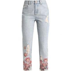 Lost Ink HIGH WAIST STRAIGHT IN Jeansy Straight Leg light denim. Niebieskie spodnie z wysokim stanem Lost Ink, z podwyższonym stanem. Za 189,00 zł.