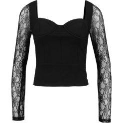 Bluzki asymetryczne: Lost Ink Petite Bluzka z długim rękawem black
