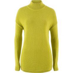 Sweter ze stójką bonprix pistacjowy. Zielone swetry klasyczne damskie bonprix, ze stójką. Za 37,99 zł.