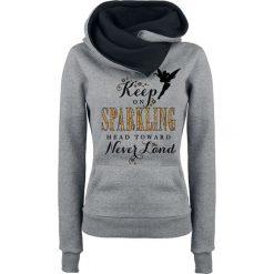 Piotruś Pan Tinker Bell - Keep On Sparkling Bluza z kapturem damska odcienie szarego/czarny. Czarne bluzy rozpinane damskie Piotruś Pan, xxl, z nadrukiem, z kapturem. Za 144,90 zł.