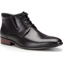 Buty męskie 87-M-828-1. Czarne buty wizytowe męskie Wittchen, z syntetyku, na zamek. Za 259,00 zł.