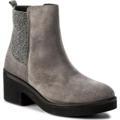 Botki BRONX - 46841-F BX 1074 Grey 8. Czarne buty zimowe damskie marki Bronx, z materiału. W wyprzedaży za 229,00 zł.