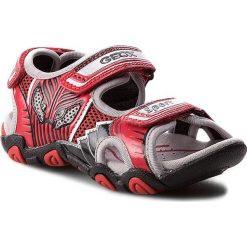 Sandały GEOX - J Sand. Strike B J7224B 0CE14 C0020 Czerwony/Czarny. Czerwone sandały męskie skórzane marki Geox. W wyprzedaży za 209,00 zł.