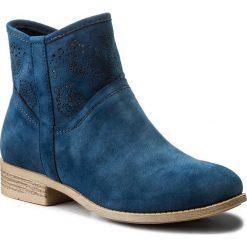 Botki JENNY FAIRY - WS17057 Granatowy. Niebieskie buty zimowe damskie Jenny Fairy, z materiału, na obcasie. Za 119,99 zł.