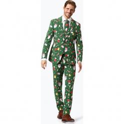 OppoSuits - Garnitur męski z krawatem – Santaboss, zielony. Zielone garnitury marki QUECHUA, m, z elastanu. Za 379,95 zł.