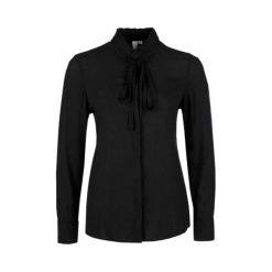 S.Oliver Bluzka Damska 42 Czarna. Czarne bluzki wizytowe marki S.Oliver, s, eleganckie, z klasycznym kołnierzykiem. W wyprzedaży za 99,00 zł.