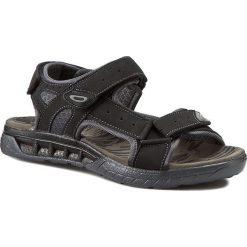 Sandały GINO LANETTI - MSSL-04 Czarny. Czarne sandały męskie skórzane Gino Lanetti. Za 89,99 zł.