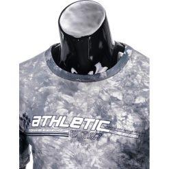T-shirty męskie: T-SHIRT MĘSKI Z NADRUKIEM S851- GRAFITOWY