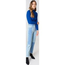 Jeansy damskie: French Connection Jasne jeansy z wysokim stanem - Blue
