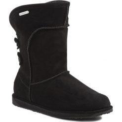 Buty EMU AUSTRALIA - Charlotte W10843 Czarny. Czarne buty zimowe damskie marki EMU Australia, ze skóry, na niskim obcasie. W wyprzedaży za 459,00 zł.