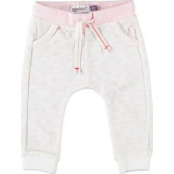 Spodnie niemowlęce: Spodnie dresowe w kolorze jasnoróżowo-kremowym