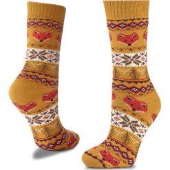 Skarpety Wysokie Unisex MANY MORNINGS - Warm Fox Winter Kolorowy Żółty. Żółte skarpetki męskie marki Many Mornings, w kolorowe wzory, z bawełny. Za 29,00 zł.
