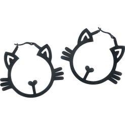 Wildcat Meow Hoops Kolczyki czarny. Czarne kolczyki damskie Wildcat, ze stali. Za 79,90 zł.