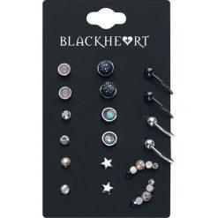 Kolczyki damskie: Blackheart Ear Stud Collection Kolczyki – Earpin wielokolorowy
