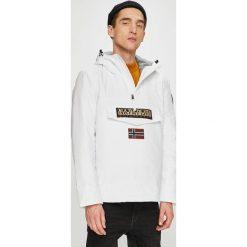 Napapijri - Kurtka. Szare kurtki męskie przejściowe marki Napapijri, l, z materiału, z kapturem. W wyprzedaży za 649,90 zł.