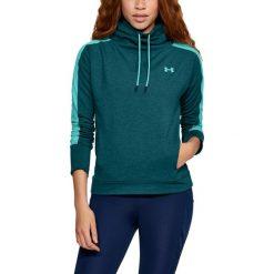 Bluzy sportowe damskie: Under Armour Bluza damska Featherweight Fleece Funnel zielona r. M (1305498-716)