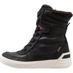 Ecco GINNIE Botki sznurowane black. Czarne buty zimowe damskie marki ecco, z materiału, na sznurówki. W wyprzedaży za 317,85 zł.