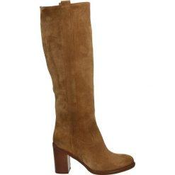 Kozaki - 440M-P85 COGN. Brązowe buty zimowe damskie Venezia, ze skóry. Za 599,00 zł.