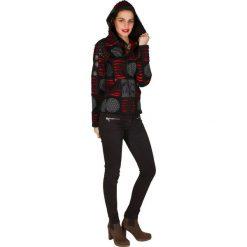 Odzież damska: Bluza w kolorze czarno-szaro-pomarańczowym
