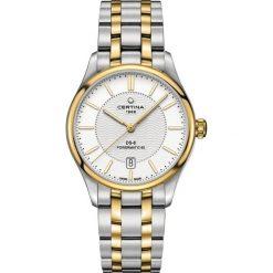 PROMOCJA ZEGAREK CERTINA DS 8 Powermatic 80 C033.407.22.031.00. Białe, analogowe zegarki męskie CERTINA, szklane. W wyprzedaży za 2807,20 zł.