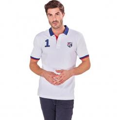 Koszulka polo w kolorze białym. Białe koszulki polo marki Camel Active, Auden Cavill, m, z aplikacjami. W wyprzedaży za 79,95 zł.