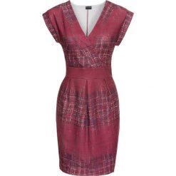 Sukienki: Sukienka z dżerseju z nadrukiem bonprix czerwonobrązowy wzorzysty