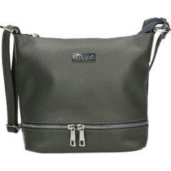 Torebka - 4-182-O D GRI. Szare torebki klasyczne damskie Venezia, w paski, ze skóry. Za 169,00 zł.