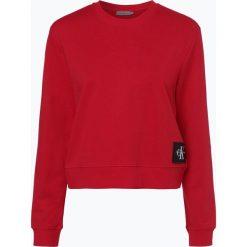 Bluzy damskie: Calvin Klein Jeans - Damska bluza nierozpinana, czerwony