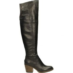 Kozaki ocieplane - 687311 NERO. Czarne buty zimowe damskie marki Kazar, ze skóry, na wysokim obcasie. Za 469,00 zł.