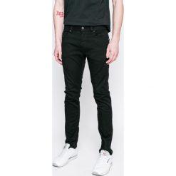 Diesel - Jeansy Thommer. Czarne jeansy męskie skinny Diesel, z bawełny. W wyprzedaży za 399,90 zł.