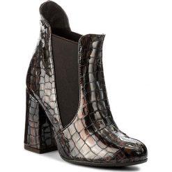 Buty zimowe damskie: Botki MACCIONI - 541 Brązowy