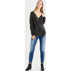 Swetry damskie: Vila VICANT WRAP Sweter dark grey melange
