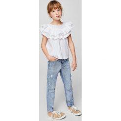 Mango Kids - Top dziecięcy Sky 110-164 cm. Szare bluzki dziewczęce bawełniane Mango Kids, z okrągłym kołnierzem, bez rękawów. W wyprzedaży za 49,90 zł.