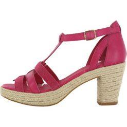 """Sandały damskie: Skórzane sandały """"Coconut"""" w kolorze beżowo-różowym"""